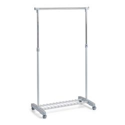 Zeller Rollkleiderständer, Kleiderstange für zusätzlichen Platz für Ihre Kleidungsstücke, Maße: 83 x 43 x 93,5-170 cm