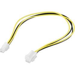 Goobay Strom Verlängerungskabel [1x Mainboard-Stecker 4pol. - 1x Mainboard-Buchse 4pol.] 0.37m Gelb