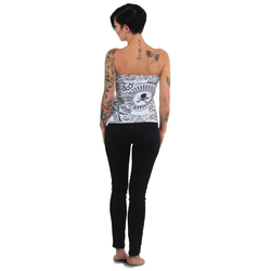 Tijuana Bandeau Shirt (Größe: L, Farbe: weiß)
