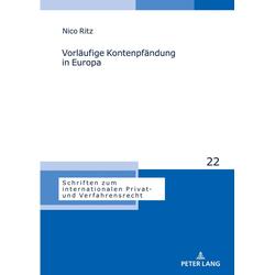 Vorläufige Kontenpfändung in Europa als Buch von Nico Ritz