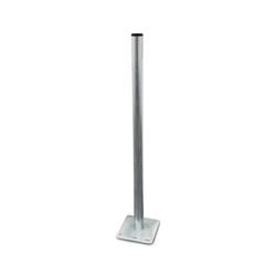 ARLI SAT-Halterung, (Standfuss 1 m Mast und Mastfuß aus Stahl verzinkt Halterung Sat Halter - Balkonbodenhalter Flachdach)
