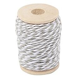 Baumwollgarn grau/weiß