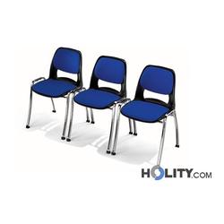 Stapelstuhl mit Sitzpolster h15936