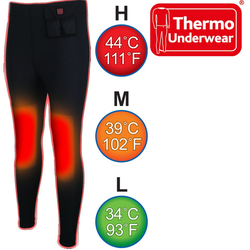 Thermo Thermounterhose THERMO UNDERWEAR PANTS beheizbare Unterhosen Outdoor XL-XXL