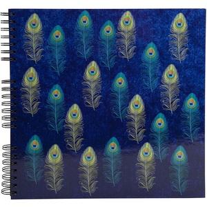 Exacompta 16805E Fotoalbum PAON mit Spiralbindung 60 schwarze Seiten quadratisch. Perfektes Fotobuch zum selbstgestalten Spiralalbum blau