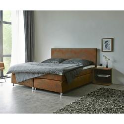 DELIFE Boxspring-bed Cloud 180x200 cm bruin topper en matras, Bedden