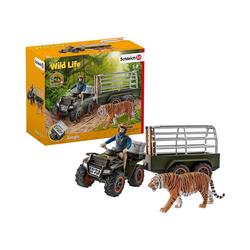 Schleich® Spielfigur Schleich 42351 Quad mit Anhänger und Ranger