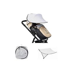 Cangaroo Kinderwagenschirm Universal Sonnenschutz, für den Kinderwagen Schutz vor Sonne Wind Staub weiß