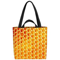 VOID Henkeltasche (1-tlg), Honigwaben Honig Bienen Waben Marmelade Süß Essen Kochen Garten Imker