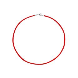 JOBO Kette ohne Anhänger, Seidenkette rot 42 cm 2,8 mm