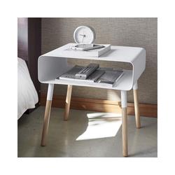 Yamazaki Beistelltisch Plain, Beistelltisch, Sofatisch, Nachttisch weiß