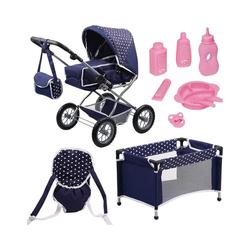 Bayer Puppenwagen Kombi-Puppenwagen und Komplett-Set blau für die