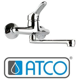 ATCO® Wandarmatur Spültischarmatur Küchenarmatur EHM Einhnadmischer Küche