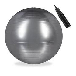 relaxdays   Gymnastikball silber 75,0 cm