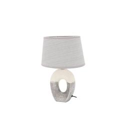 Dekohelden24 Tischleuchte Edle Designer Tischlampe / Nachttischlampe ova in