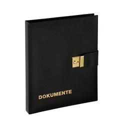 Dokumentenmappe 29x36cm 4-Ring-Mechanik 1H schwarz Ordner
