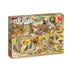 Jumbo Spiele Puzzle 18854 Der Bau der Arche Noah, 1000 Teile Puzzle, 1000 Puzzleteile bunt