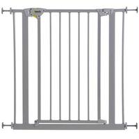 HAUCK Tür- und Treppenschutzgitter Trigger Lock Safety Gate 75-81 cm silver