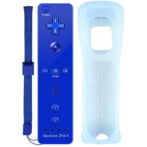 Satohom Wii Remote Controller Wireless Remote Game Joysticks Built in Motion Plus Remote Game Controller with Silicone Case and Wrist Strap Wii Replacement Remote Controller for Wii and Wii U