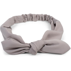 styleBREAKER Haarband Einfarbiges Haarband mit Schleife, 1-tlg., Einfarbiges Haarband mit Schleife grau