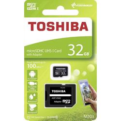 Toshiba Toshiba microSDHC-Karte M203 32GB Class 10 UHS-I Speicherkarte (32 GB, Class 10 + UHS-I)
