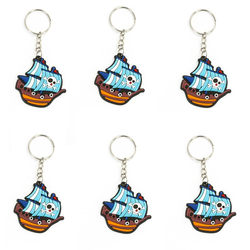 6 x Schlüsselanhänger Piraten Schiff Anhänger Accessoire Mitgebsel