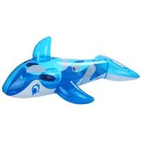 Jilong Wal XL Schwimmtier 145x80 cm Reittier Badetier Wasserspielzeug mit 2 Haltegriff Luftmatratze
