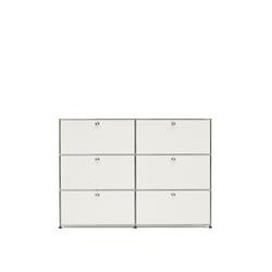 USM Highboard weiß, Designer Prof. Fritz Haller, 109x153x38 cm