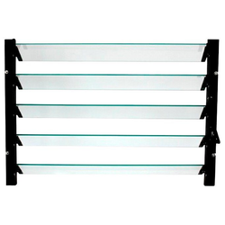 Vitavia Fenster Lamellenfenster, schwarz, BxH: 61x45 cm