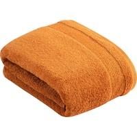 VOSSEN Duschtuch Balance (1-St), antibakteriell durch Hanf orange 100 cm x 150 cm