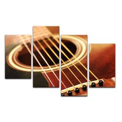 Bilderdepot24 Leinwandbild, Leinwandbild - Gitarre 120 cm x 80 cm