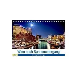 Wien nach Sonnenuntergang (Tischkalender 2021 DIN A5 quer)
