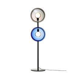 Bomma Stehlampe Orbital aus Glas blau