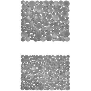 iDesign Spülbeckeneinlage, regulär große Spülbeckenmatte aus Kunststoff, schützende Spülmatte für Keramik- und Edelstahlbecken, grau + Spülbeckeneinlage, große Spülbeckenmatte aus Kunststoff