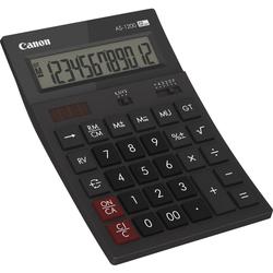 Canon AS-1200 Desktop-Taschenrechner 12 Stellen Solarpanel, LCD-Display
