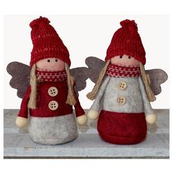 matches21 HOME & HOBBY Dekofigur Engel Weihnachtsengel Dekofiguren Weihnachten 2er 13 cm (2 Stück)