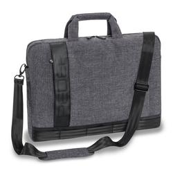 PEDEA Laptoptasche 15,6 Zoll (39,6 cm) FANCY Notebook Umhängetasche mit Schultergurt, grau