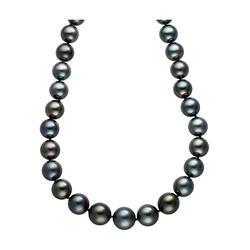 JOBO Perlenkette, mit Tahiti-Zuchtperlen 45 cm im Verlauf
