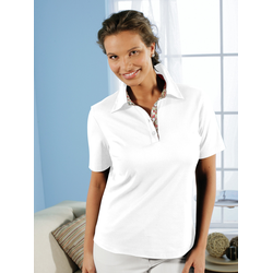 Avena Damen Aloe vera-Polo-Shirt Weiß 44