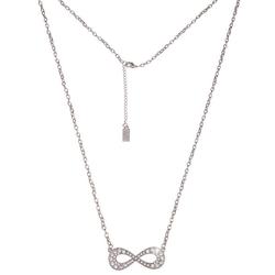leslii Halskette mit Unendlichkeitszeichen und Strasssteinen silberfarben