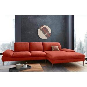 W.SCHILLIG Ecksofa enjoy&MORE, mit Sitztiefenverstellung, Füße bronze pulverbeschichtet, Breite 340 cm rot