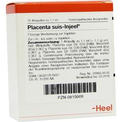 Placenta Suis Injeel Ampullen