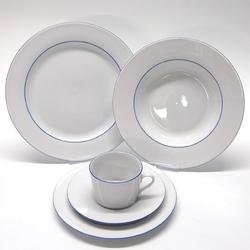 Retsch Arzberg Kombiservice Heike Blaurand, (30 tlg.) weiß Geschirr-Sets Geschirr, Porzellan Tischaccessoires Haushaltswaren