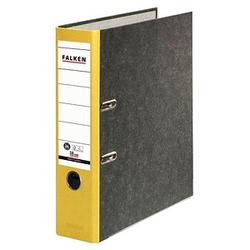 FALKEN Recycling Ordner gelb marmoriert Karton 8,0 cm DIN A4