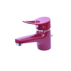 Waschtischarmatur Waschbecken Wasserhahn Bad Armatur Rot