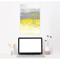Posterlounge Wandbild, Zitronen gelb-grau 60 cm x 90 cm