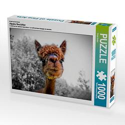 Alpaka Gesichter Lege-Größe 64 x 48 cm Foto-Puzzle Bild von Peter Roder Puzzle