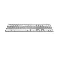 Jenimage Bluetooth Aluminium Tastatur DE silber (FK418BTSQ-DE)