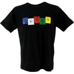 Guru-Shop T-Shirt Tibet & Buddhist Art T-Shirt - Gebetsfahne.. S