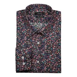 Lavard Buntes Herrenhemd mit einem Blumenmuster 93090